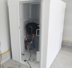 Our safe room features a customized anchoring system